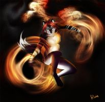 Fire dancer by Static-ghost