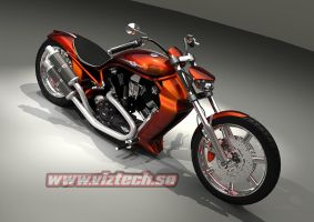Harley V-Rod custom by hermanform