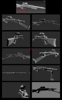 Contention: Exohuman Slicer Sniper rifle GEN 2 by Malcontent1692