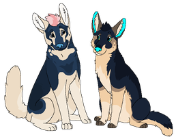 Blue G-Sheps by Miiroku