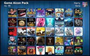 Game Aicon Pack 98 by HarryBana