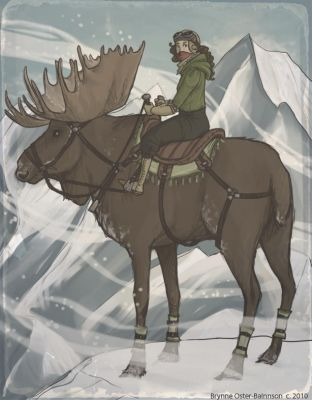 Moose Rider by Svenly