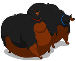 Fat Roscoe and DeSoto by HectortheWolf
