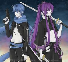 Black Rock Shooter: Kaito n Gakupo by Minomotu