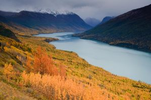 Fall on Eklutna Lake by mikewheels