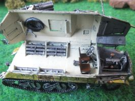 Panzerwerfer interior details by Baryonyx62