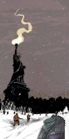 GOODBYE LADY LIBERTY by Comolo