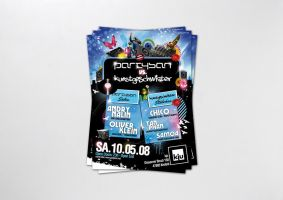 partysan flyer by homeaffairs