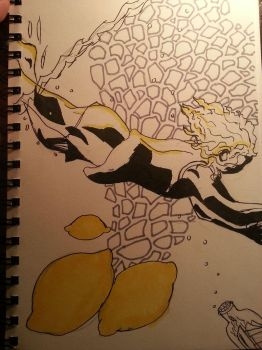 Day 20- Lemon, Diving, Cannister by AviiCeruleanSkies