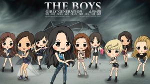 SNSD THE BOYS by squeegool