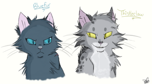Bluefur/Thistleclaw by KisaKat000