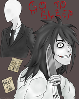 Jeff and Slender by vitoriahn