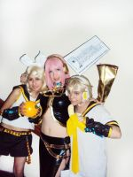 VOCALOID Luka, Rin and Len by cosplayluvx3