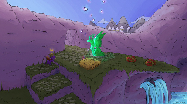 Spyro The Dragon: Alpine Ridge by AbyssinChaos