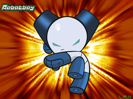 Robotboy kicks tail by LAN2454