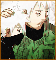 Sakumo Hatake and Kakashi Hatake by Animeboy274s