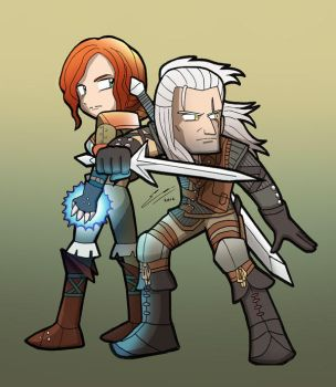THE WITCHER Gerald and Triss by SandikaRakhim