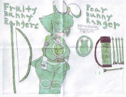 FBR:PEAR BUNNY RANGER by RedWolf246