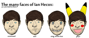 The many faces of Ian Hecox by Coraleat