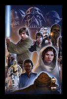 star wars collage colored by benttibisson