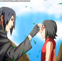Sasuke and Sarada Naruto 700+10 Gaiden by Maxibostero