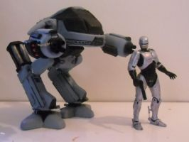 Custom Ed-209 with Robocop FINISHED by Ridleyman9000