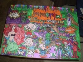 90s Classic All Stars Cartoon Immortal DrawingPT10 by NWeezyBlueStars23
