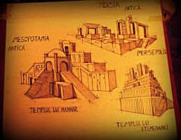 Ancient Mesopotamia and Persia Temples by oOoYumeOoO