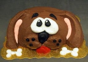 Puppy Dog Cake by theshaggyturtle