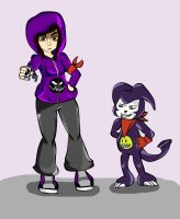 Other Style Lena and Impmon by Michilee