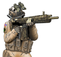 Modern Warfare Soldier by 0Gungrave0