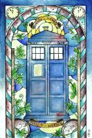 Stained Glass: Tardis by Scarlett-Winter