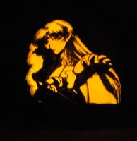 Sesshomaru Pumpkin by mystaya171