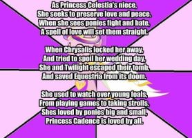 My Little Poetry: Princess Cadence by snakeman1992