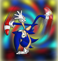 Sonic's Break Dance by sensum