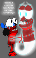 Mixels - Zorch's Ghost Comforting Zorch Jr by PogorikiFan10