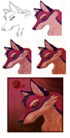 Izla - Step by step drawing by Feyrah