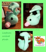 Leafmon crochet plush by Sasophie