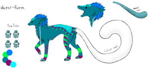 Water-Form Dereon Adopt #4 (Closed) by dragons011
