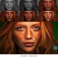 Dicker - Process by PhotoshopIsMyKung-Fu