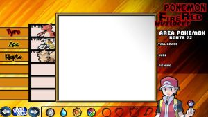 Pokemon FireRed Nuzlocke Layout by KojiroBlade