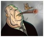 Alfred Hitchcock caricature by HammersonHoek