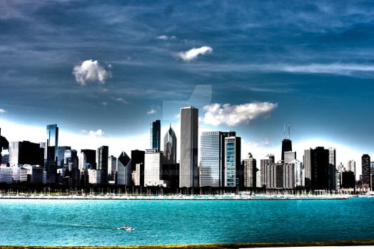 Chicago Skyline by Katiemarie