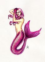 Pink Mermaid by MyWorld1