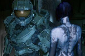 John And Cortana (Halo 4) by HaloMika