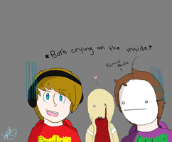 Cry and Pewdie Sketch -Finished- by Phantomishfluffeh