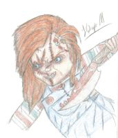 Chucky and his knife by Laquyn