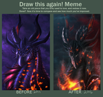 Deathwing 2011 and 2016 by Ghostwalker2061