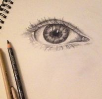 Real Eye Practice by LemonPoppySeedMuffin
