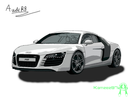 Audi R8 (graphics tablet practice) by Axial97